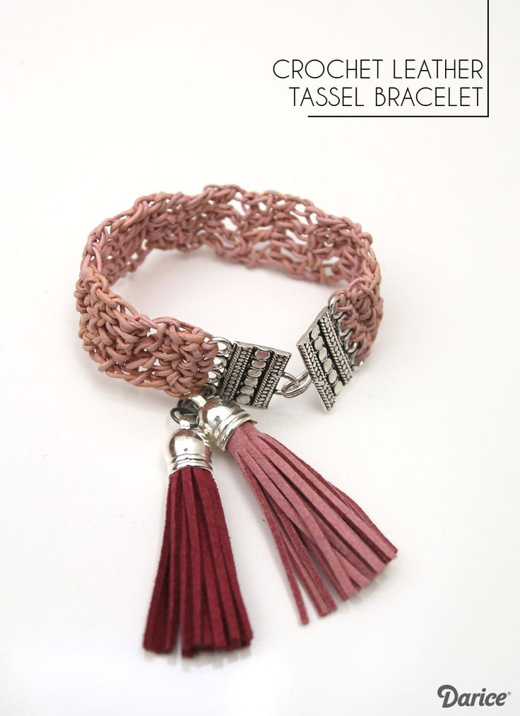 Learn how to make your own leather crochet bracelet with this step by step tutorial. With just a few jewelry findings, it makes a fun and unique bracelet!