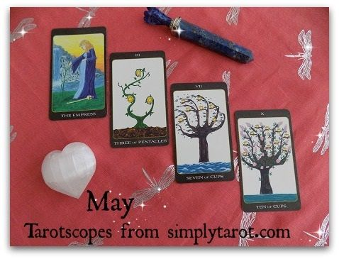 Tarotscopes for May 2017 are a free four card tarot reading based on your star sign for the month of May. Copyright on words and pictures by Patricia House