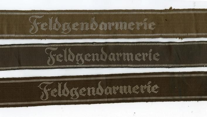 Cuffbands of the Feldgendarmerie