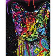 Frameless Abstract Colorful Cat Animals DIY Painting By Numbers Hand Painted Oil Painting For Wall Art Picture Home Decoration  ~ Click the image to visit the  AliExpress.com #HomeDecor