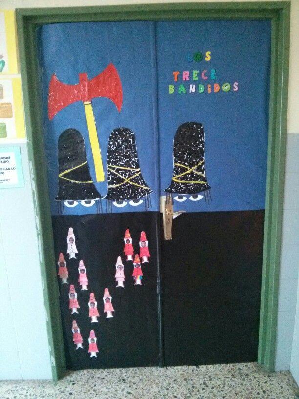 Hemos convertido el cuento de Los tres bandidos, en la entrada de nuestra clase. Os dan la bienvenida los 13 bandidos!