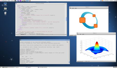Octave. open source Matlab-like program for numerical computations.