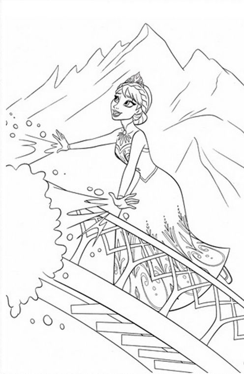 Frozen Coloring Page Joseph Coat 043