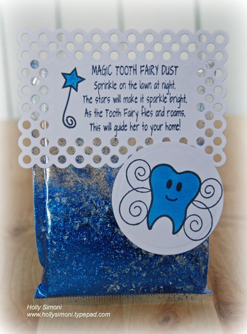 Official toothfairy seal the tooth fairy dust stamp sentiment was