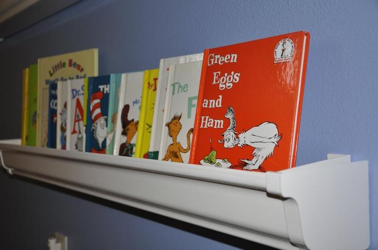Vinyl Gutter Bookshelf