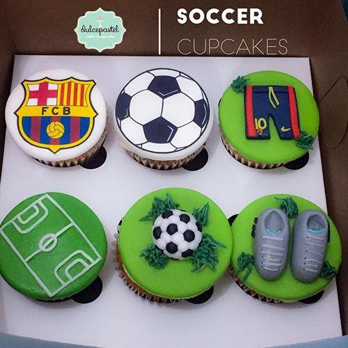 Cupcakes Fútbol Barcelona by Dulcepsastel.com - Cupcakes en Envigado - Cupcakes en Medellín - Tortas en Envigado - Tortas en Medellín