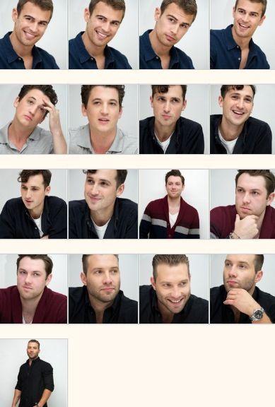 Divergent men... Theo James (Four), Miles Teller (Peter), Ben Lloyd Hughes (Will), Christian Madsen (Al), Jai Courtney (Eric)