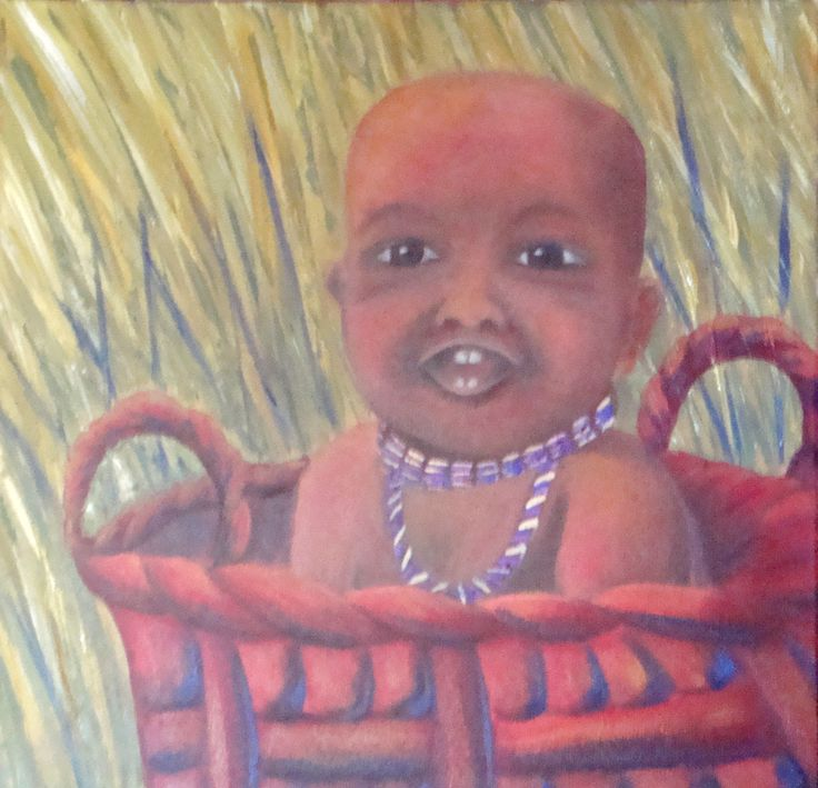 "FIELD BABY Oil on canvas 46cmx46cm (18""x18"") $300"