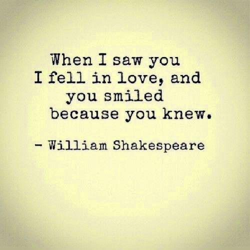 Quando ti ho vist@ mi sono innamorat@ e tu hai sorriso perchè lo sapevi. - William Shakespeare #edarlingitalia #shakespeare #innamoramento