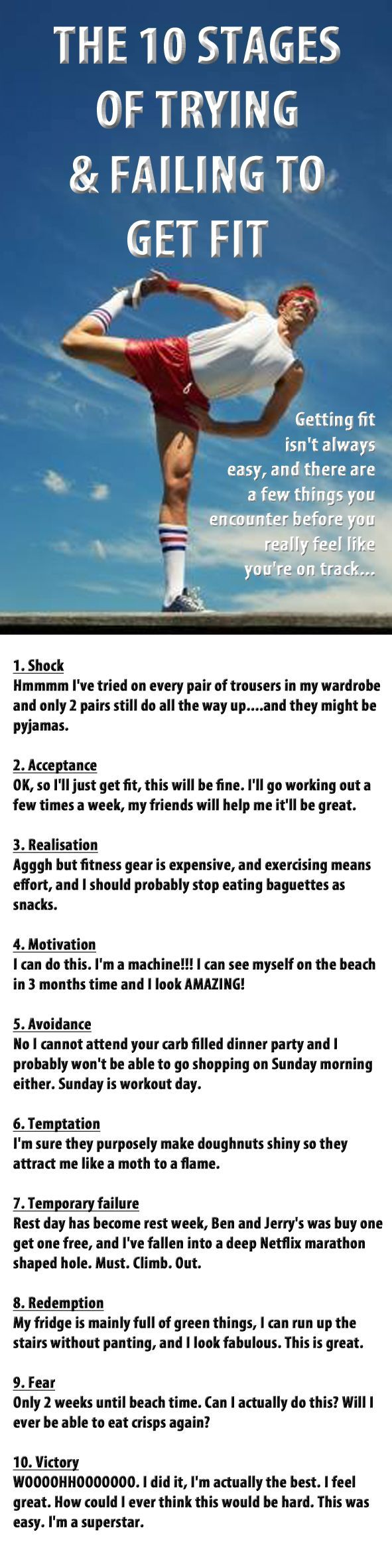 The 10 stages of getting fit. Do they look familiar? :)