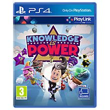 Buy Knowledge is Power, PS4 PlayLink Online at johnlewis.com