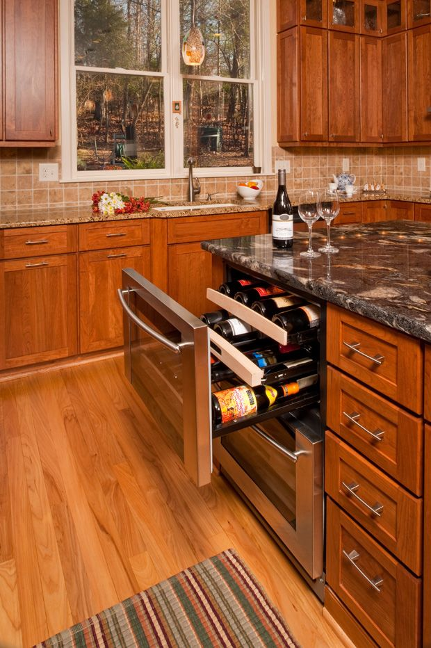 Cederberg #Kitchens & Additions created this innovative #Wine Cooler @Kitchen & Bath Channel