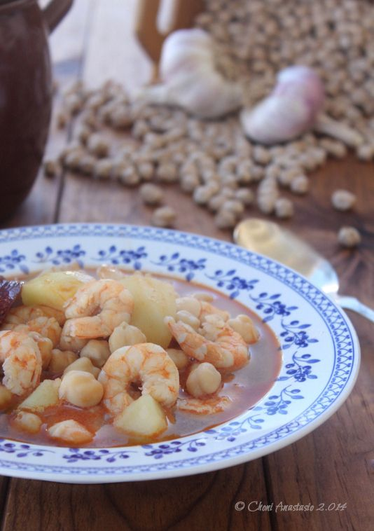 Cocina compartida: GARBANZOS CON LANGOSTINOS (Elaboración tradicional y en Robochef)
