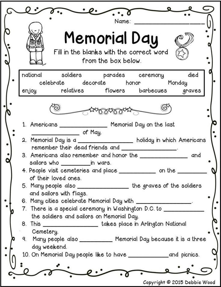 Memorial Day Worksheets 3rd Grade : Best patriotic resources images on pinterest petit