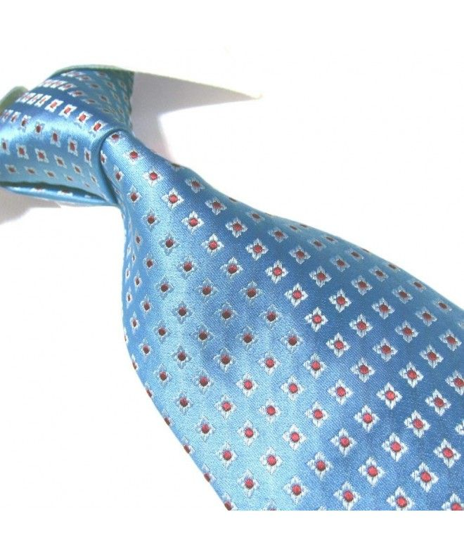 DMITRY Mens Italian Silk Fuchsia Patterned Tie