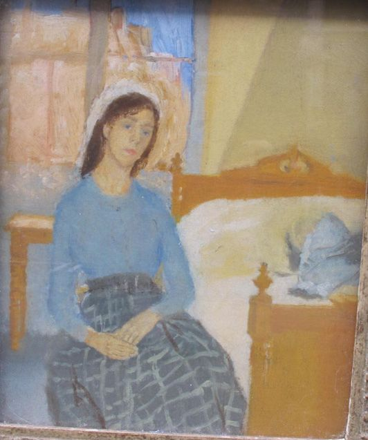 Gwen John - The Artist in her Room in Paris, circa 1907-09, oil on canvas.