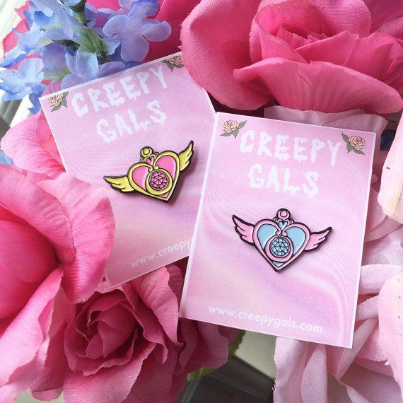 Sailor Moon Crisis Heart 1.25 Enamel Lapel Pin by CreepyGals