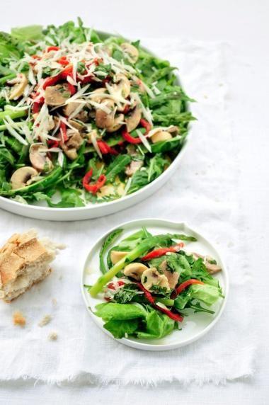 Groene salade met manchego