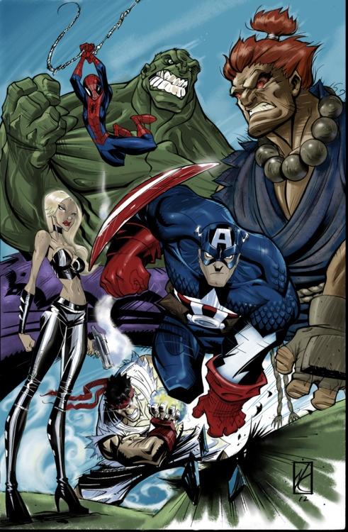 Marvel vs Capcom. Illustration by Nick Kilislian