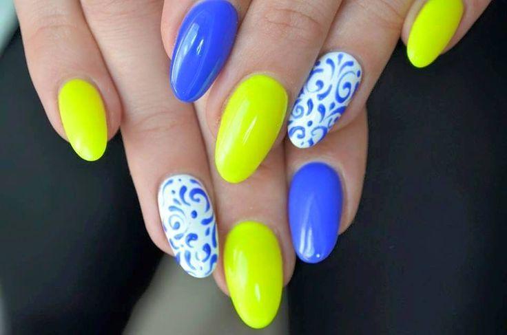 by Daria Be, Follow us on Pinterest. Find more inspiration at www.indigo-nails.com #nailart #nails #polish #yellow