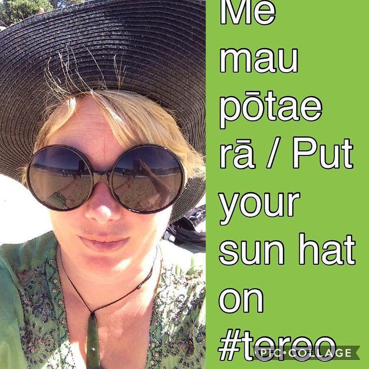 Me mau pōtae rā / Put your sun hat on #tereo #māori #kaiteriteri #sunhat #tereomāori #sunsmart
