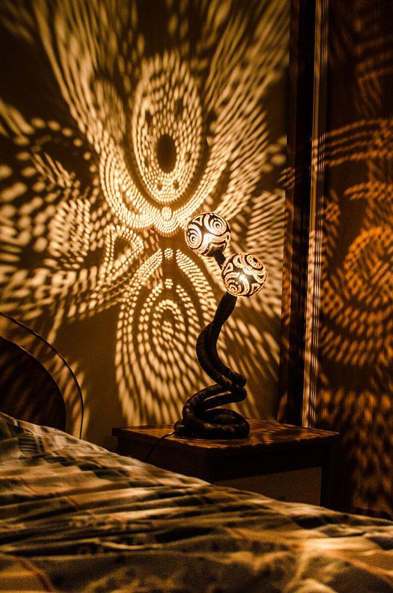 [Image] | Serpentine Lamps Made From Coconut Shells Cast Stunning...    TIMEWHEEL | Accessories   Lighting/Fixtures | Pinterest | Coconut Shell, ...