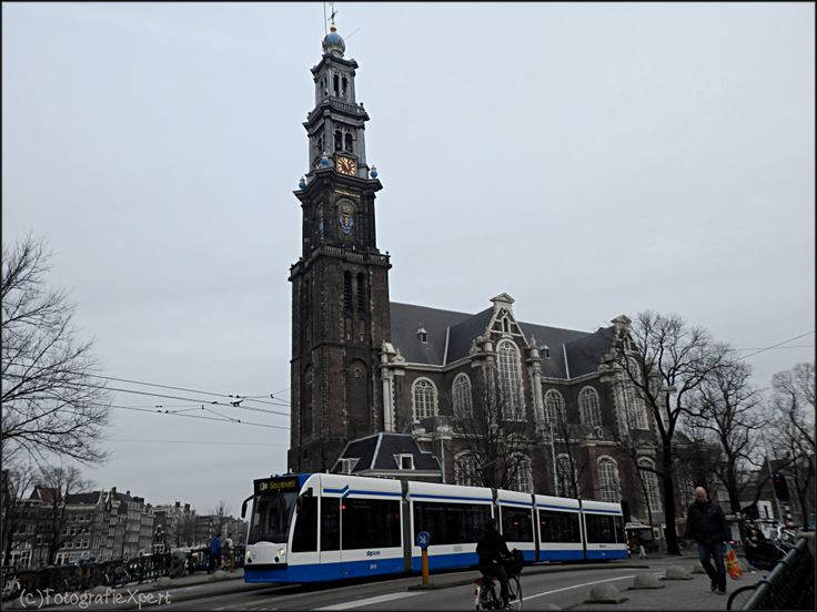 Typical Amsterdam: Tram near Westertoren