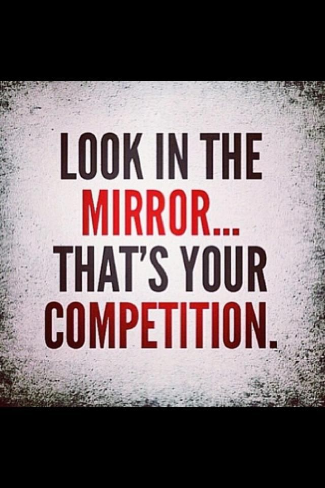 Getting motivated is one of the hardest things to do if there is no inner-drive. Making healthy choices and staying fit has to be something you chose to do not for anyone else but yourself. Whether you're competitive or not, changing yourself starts by looking in the mirror.