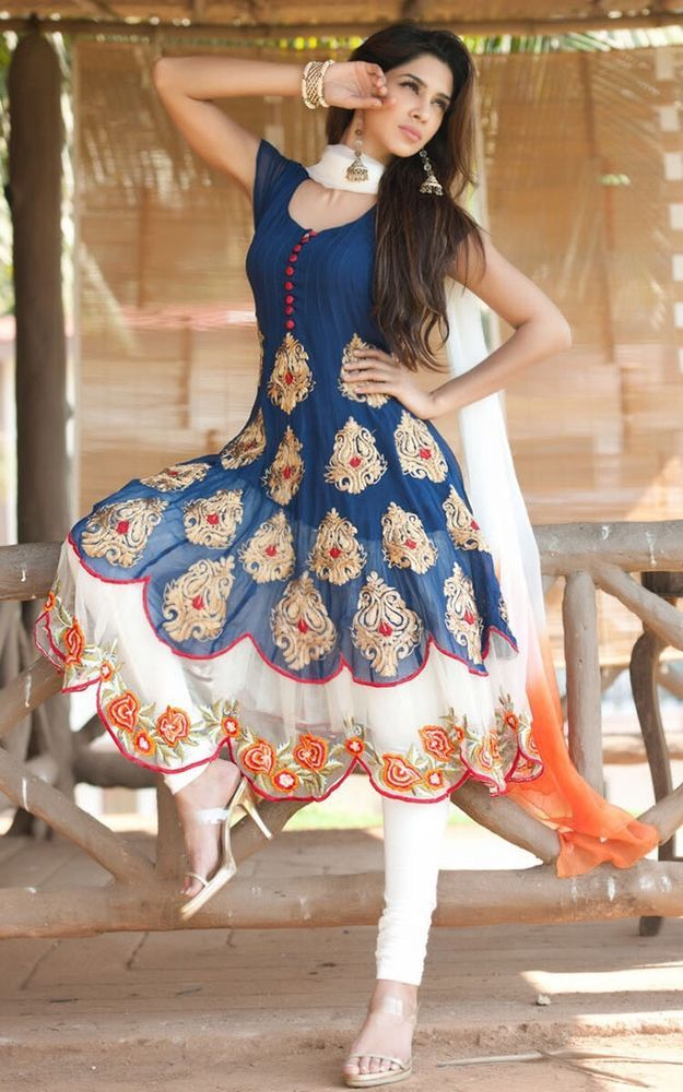 Latest Designer Anarkali Salwar Kameez Indian Pakistani Party Wear Dress Suit #SKPD #AnarkaliStyle