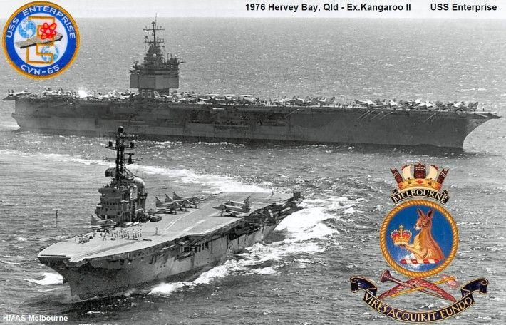 HMAS Melbourne & USS Enterprise 1976
