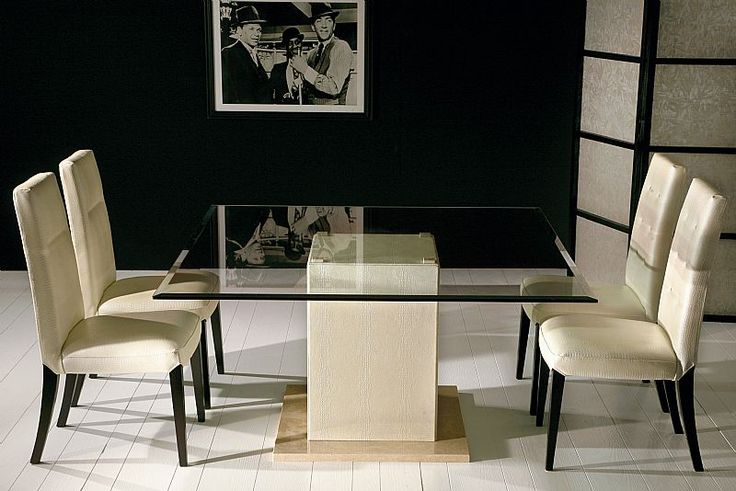Best 25 glass dining room table ideas on pinterest glass dinning table glass dining table - Elegant contemporary dining room table ...