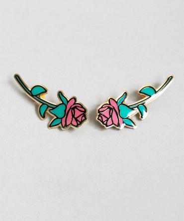 Lazy Oaf Rose Collar Pin Set