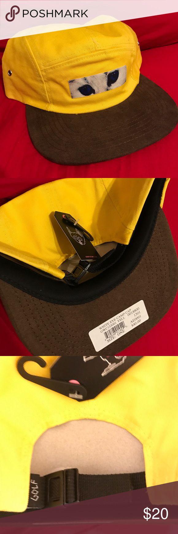 Yellow Cat Hat (still for sale) Yellow golfwang odd future five panel hat, never worn! Odd Future Accessories Hats