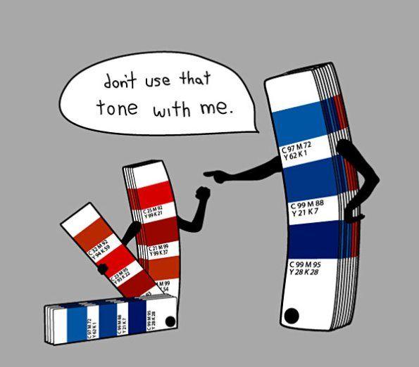 "Nathan Pyle: Pantone azul a Pantone rojo: ""No uses ese tono conmigo"""