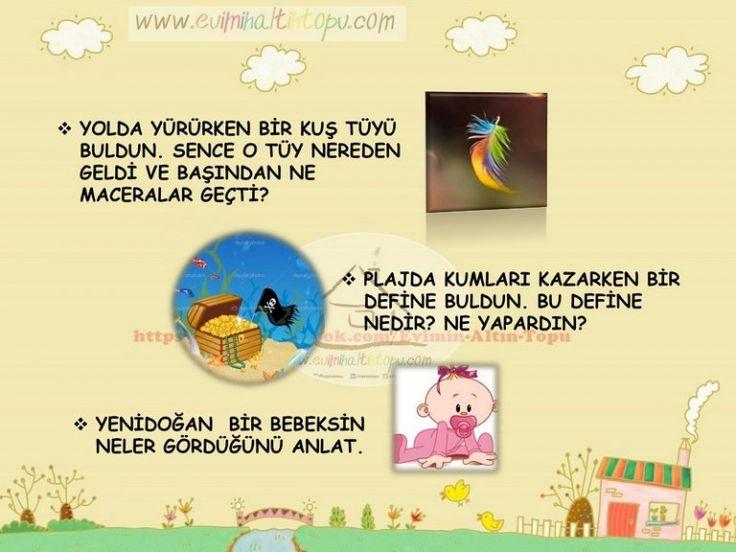 çocuklarda yaratıcı düşünme,çocuklarda hayal gücü gelişimi, (3)   Evimin Altın Topu