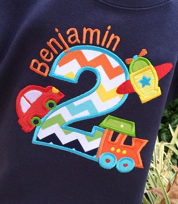Boys Planes Trains and  Automobile Birthday Shirt on by lilshabebe