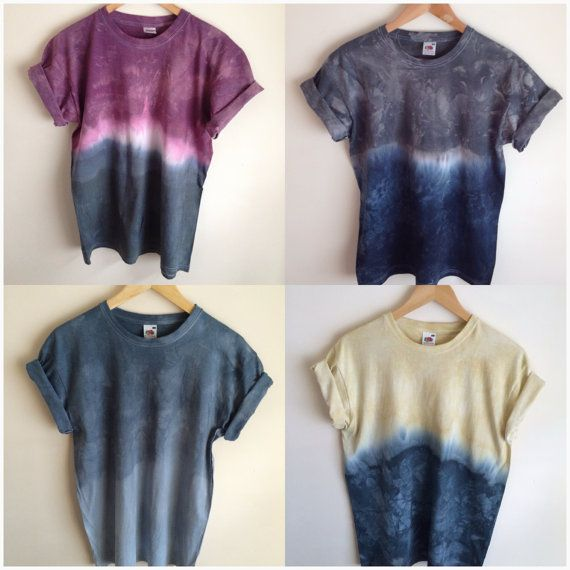 Dip Dye Tie Dye T-Shirt Unisex Various by JessIrwinClothing