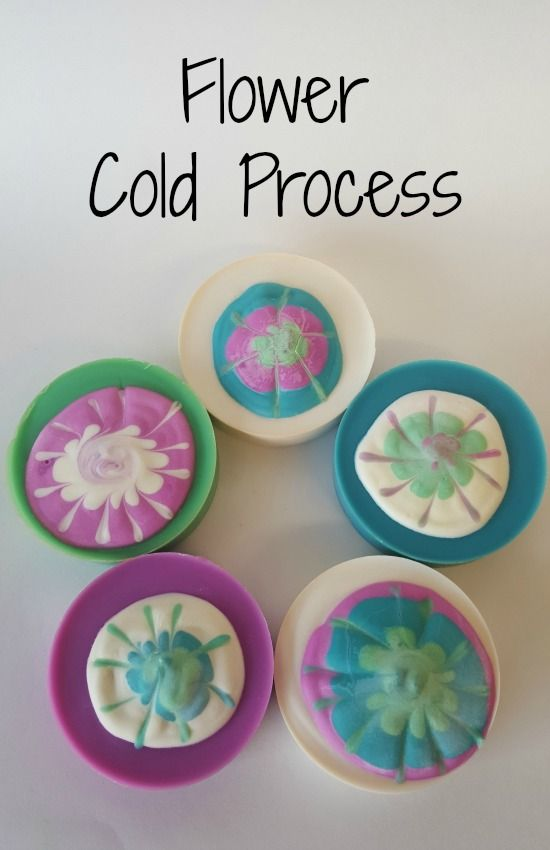 Flower Cold Process Soap Recipe and Tutorial