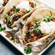 Everything Greek Pork Pitas - Pinch of Yum