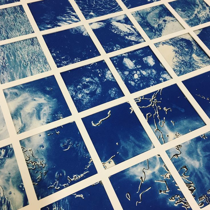 Cyanotype drypoint intaglio Photographic 'Fragments' 2017  Artist Georgia Steele