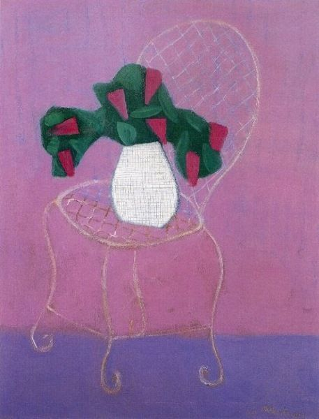 """Chair with Lilacs""  Milton Avery, 1951"