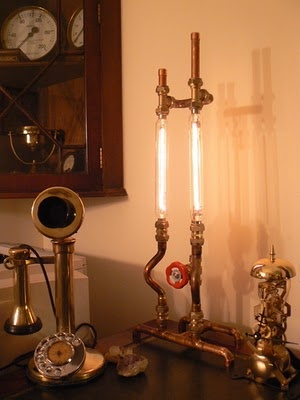 Copper Pipe Lamp