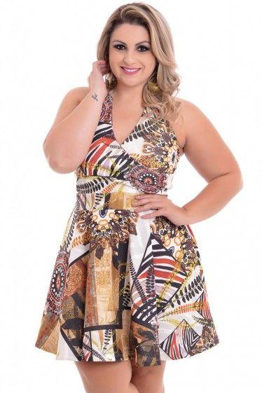 Vestido Plus Size Tribal Etnico