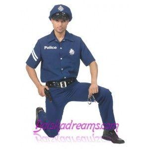 Déguisement policier homme grande taille, Déguisement agent de police homme, carnaval, fêtes, uniforme, police