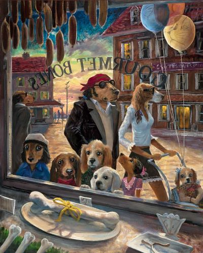 ART - Lonely Dog, Ivan Clarke, NZ artist