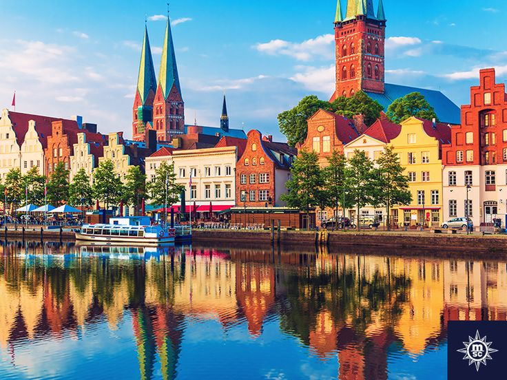 One of Germany's best kept Medieval secrets, the whimsical town of Lubeck along the Trave River entices curious visitors with lingering hints of its mercantile past. #MSCMusica Jedna od najskrivenijih srednjovjekovnih tajna Njemačke, gradić Lubeck uz rijeku Trave privlači posjetitelje svojom trgovačkom poviješću. ‪#‎MSCMusica‬