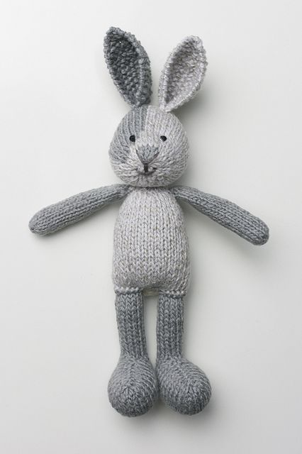 Boy Bunny, in the buff by msmmumbles, via Flickr Pattern: Boy Bunny with a Piebald Patch, by Little Cotton Rabbits  http://littlecottonrabbits.typepad.co.uk/knitting-patterns/
