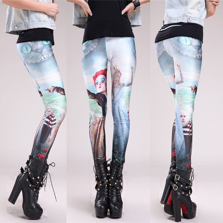2015 America and Europe Summer style fitness pencil gym sport legging stretch black milk Fairy tale
