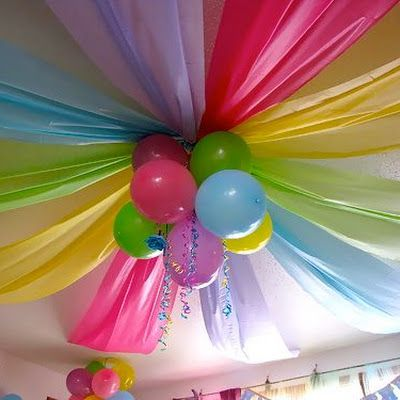Party Ceiling from Inexpensive Materials @keyingredient