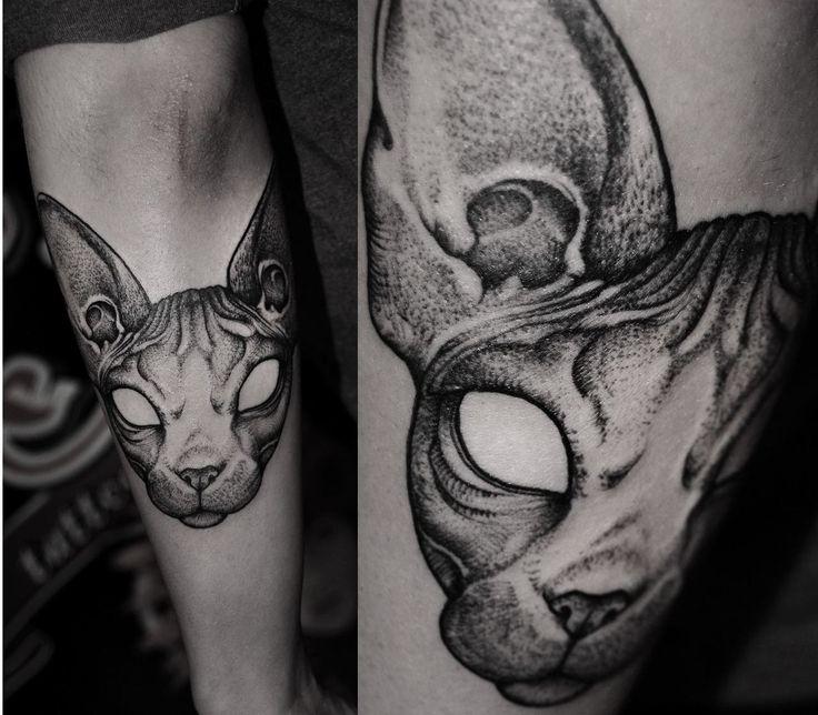 Best 25 sphynx cat tattoo ideas on pinterest for Hairless cat tattoo